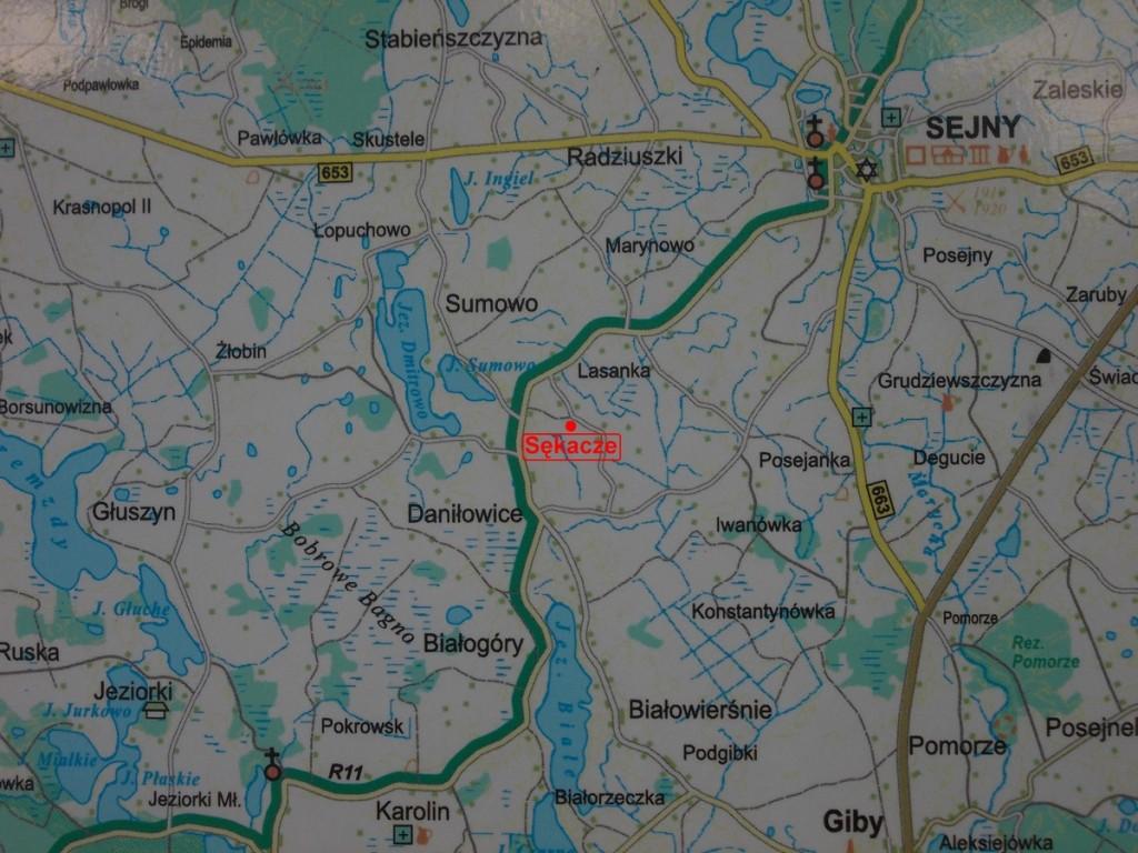 Nasz zakład znajduje się niedaleko Sejn, przy trasie Sejny-Pogorzelec.